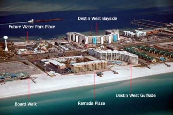 Maps Destin West Beach And Bay Resort Map on